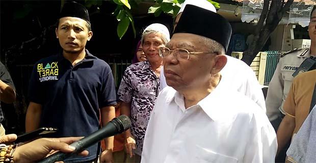 Ma'ruf Amin Melarang Umat Islam Untuk Demo Pada Aksi 212 Karena Sudah Dipolitisi
