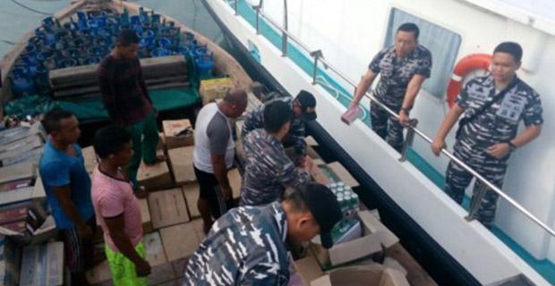Polisi Berhasil Menangkap Penyelundupan Sebanyak 84 Ribu Botol Miras di Batam