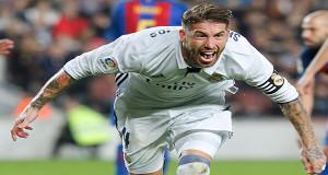Sundulan Ramos Pupuskan Pesta kemenangan Barcelona