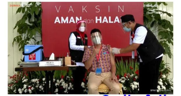 Raffi Ahmad Ikut Terima Vaksinasi Covid-19 Bareng Jokowi