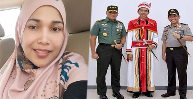 Wanita Ini Di Buly Karena Menghina Jokowi Menggunakan pakaian Baju Adat Maluku
