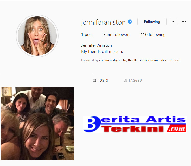 Jennifer Aniston Membuat Instagram Crash!