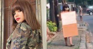 Dinar Candy Viral Pakai Bikini Merah di Pinggir Jalan